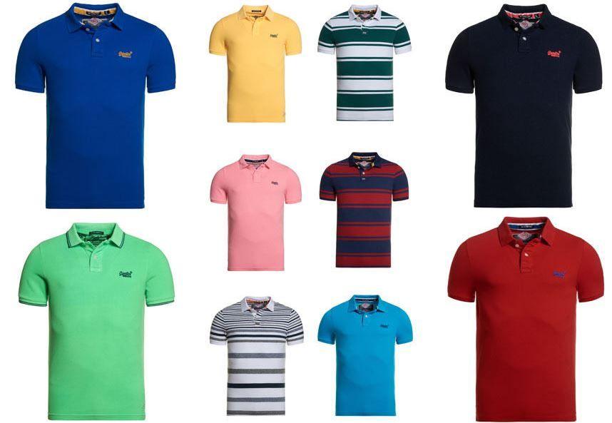 Superdry Polo Shirts Superdry Herren Poloshirts versch. Modelle und Farben für je 19,95€