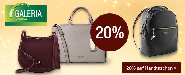 Damentaschen mit 20% Rabatt bei der Galeria Kaufhof