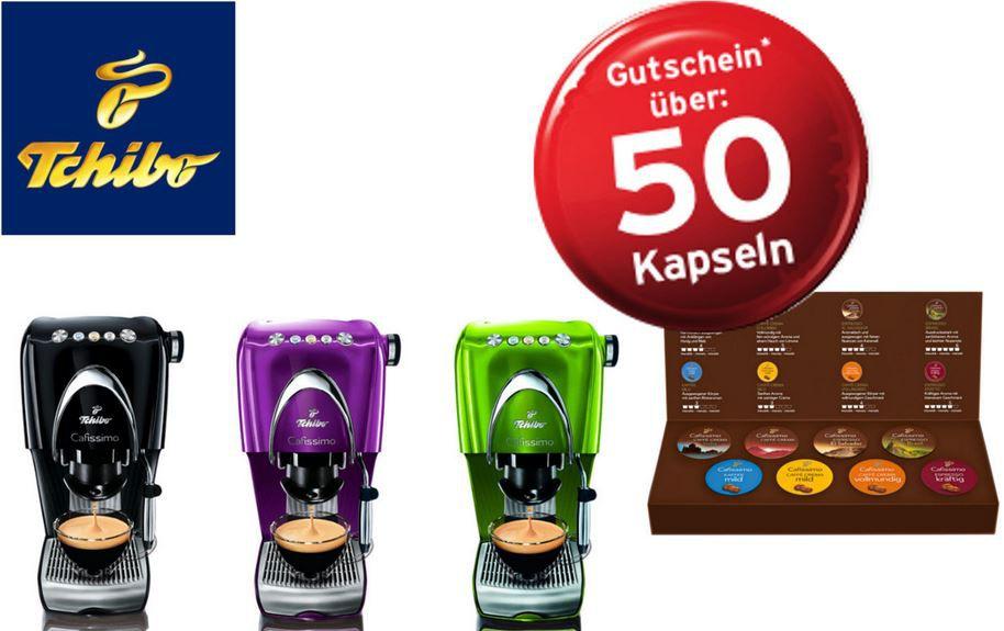 Tchibo Gutschein Tchibo Cafissimo Classic für 39€ (statt 65€)   inkl. Gutschein für 50 Kapseln