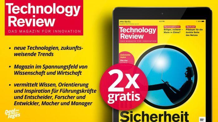 2 Ausgaben Technology Reviews (digital) gratis testen   Kündigung notwendig