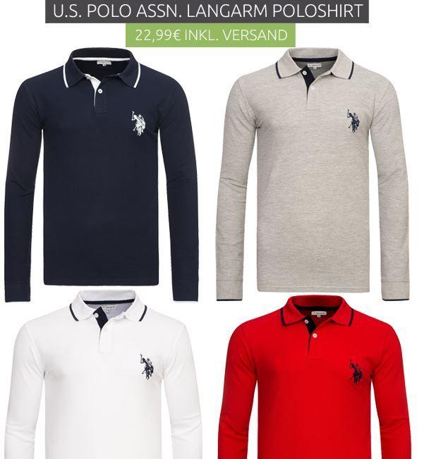 U.S. Polo Shirts Lngrm U.S. POLO ASSN.   Herren Polo Langarmshirts für je nur 22,99€