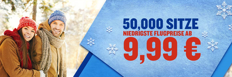 Ryanair Winter Ticketverkauf   Flüge ab 9,99€