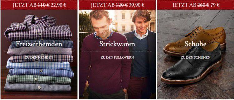 Charles Tyrwhitt Sale mit bis zu 75% Rabatt + 15€ Extra Rabatt ab 75€