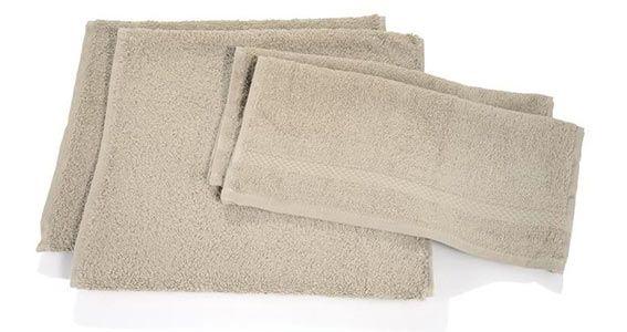 Villeroy Boch Handtuch Set 4 tlg bg Villeroy & Boch Handtuch Set 4 tlg in beige für 14,99€ (statt 28€)