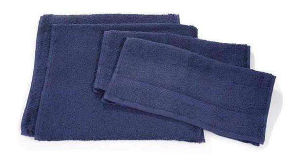 Villeroy & Boch Handtuch Set 4 tlg in dunkelblau für 14,99€ (statt 28€)