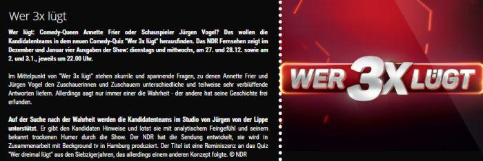 """Freikarten für """"Wer 3x lügt"""" am 1. Dezember in Hamburg"""