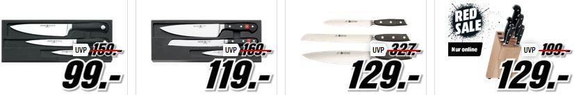 Westhof Messer Messerscharfe Angebote bei Media Markt: z.B. Messerblock mit Messern für nur 16€