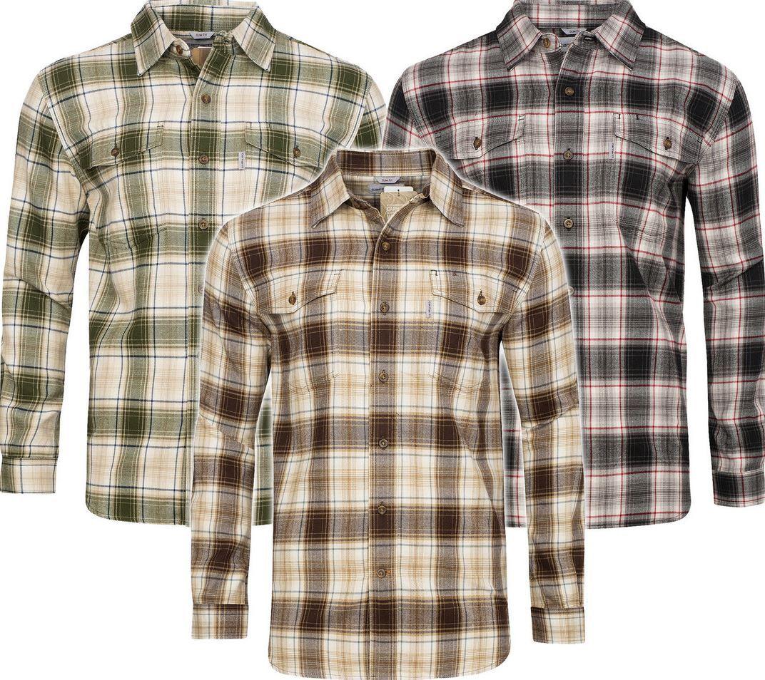 carhartt Trumbull Slim Fit Herren Flanellhemden carhartt Trumbull Slim Fit Herren Flanellhemden für je 19,99€ (statt 43€)