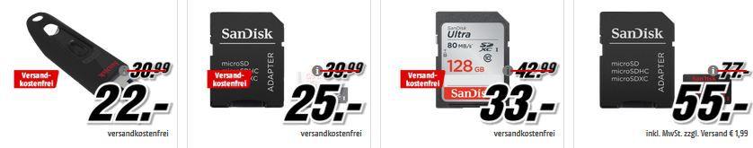 Media Markt Mega Marken Sparen: Drucker, Speicher, Notebooks und Tablets