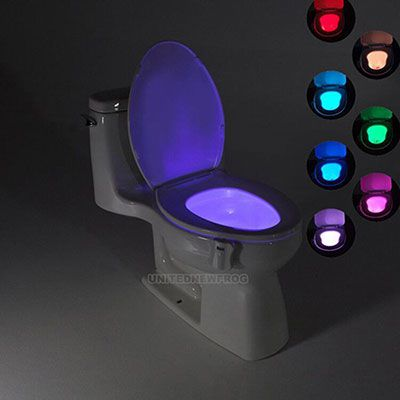 klo th Toilettenlicht mit 8 LEDs für 3,93€