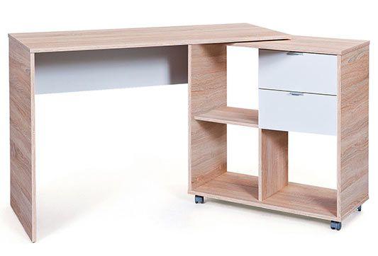 Schreibtisch FINU mit schwenkbaren Seitenteil für 79,94€ (statt 142€)