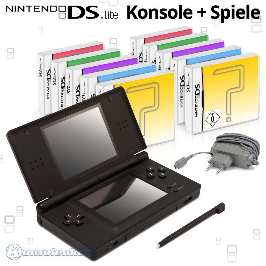 s l16004 Nintendo DS Lite Handheld Konsole + 10 gratis Spiele für 44,44€