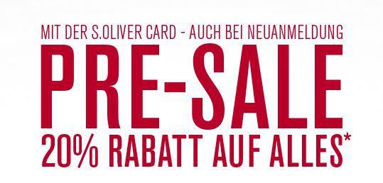 s.Oliver PreSale 20% Rabatt auf (fast) alles im s.Oliver Onlineshop   günstige Markenfashion