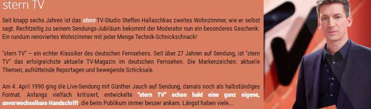 Freikarten für SternTV in Hürth am 20.03.2019