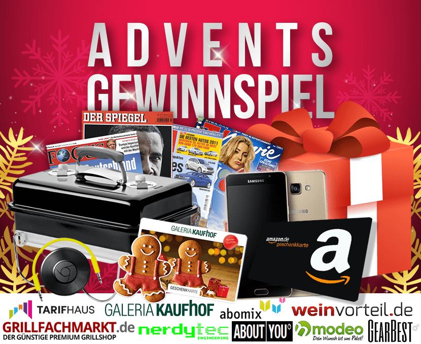 2. Advents Gewinnspiel: Wir beschenken euch mit tollen Preisen
