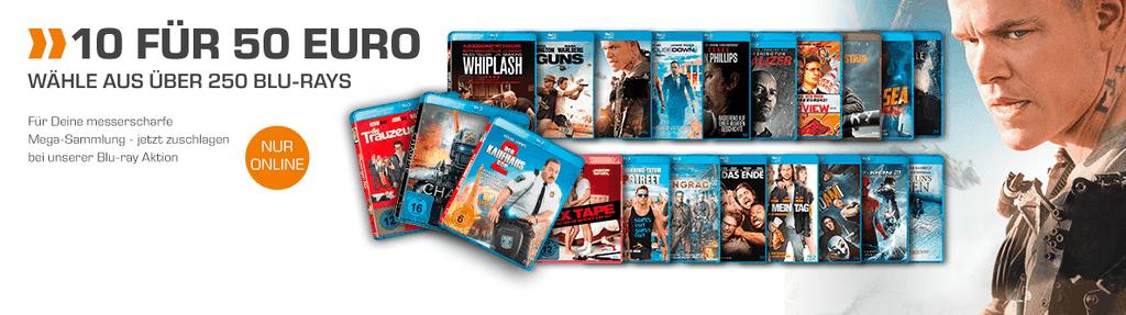 Saturn: 10 Blu rays für nur 50€   bis Mitternacht