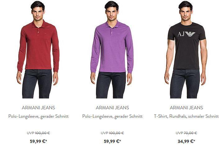 Armani Armani Jeans   Herren Polos, Shirts und Jeans mit bis zu 50% Rabatt (UVP)