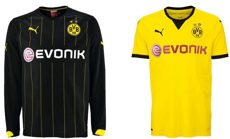 Puma BVB Borussia Dortmund, Arsenal, Düsseldorf   Fussball Vereins Shirts für je 19,99€