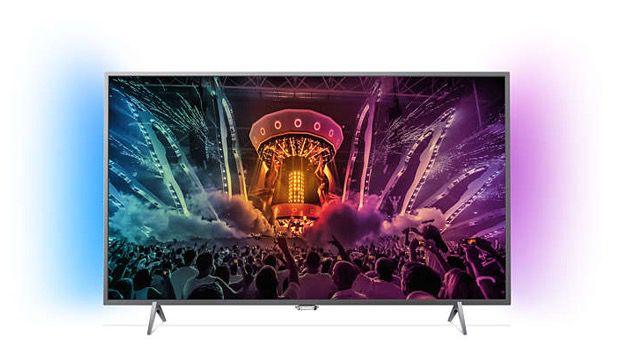Philips 43PUS6201   43 Zoll 4k Fernseher mit 2 seitigem Ambilight für 444€ (statt 529€)