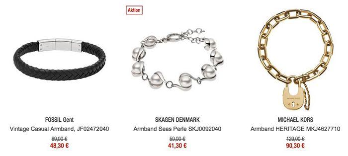 30% auf Armbänder & Armreifen + 10€ Gutschein ab 79€   z.B. Michael Kors Armreif nur 73€ (statt 96€)