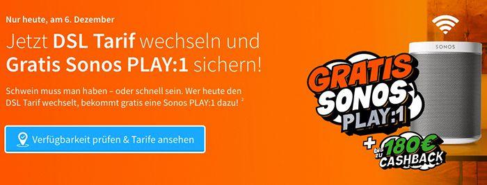 Bildschirmfoto 2016 12 06 um 12.10.41 Knaller? Telekom Magenta M + DSL 50k + bis zu 349,96€ Cashback + gratis Sonos Play:1