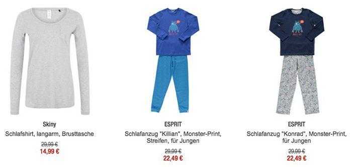 25% auf Nachtwäsche + 10€ ab 79€ + VSK frei ab 49€