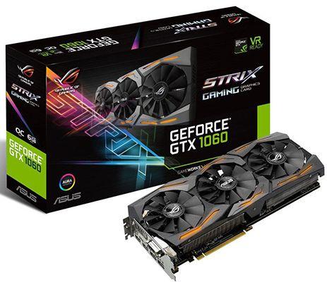 Asus GTX 1060 STRIX OC Gaming Grafikkarte 6GB für 269€ (statt 308€)