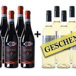 6 Flaschen Wein gratis zu jeder Bestellung ab 6 Flaschen bei Weinvorteil