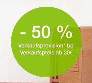 50% Rabatt auf die Verkaufsprovision bei eBay ab 30€   nur eingeladene Mitglieder