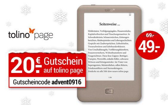 Bildschirmfoto 2016 12 09 um 14.10.53 Tolino Page eBook Reader für 49€(statt 61€)