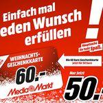 Reminder! 60€ Media Markt Geschenkkarte für 50€ – bereits Online nutzbar!