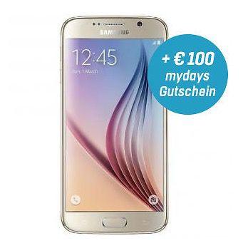 Knaller! Samsung Galaxy S6 32GB in Gold Platinum für 359,10€ (statt 436€) + 100€ mydays Gutschein