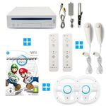 Nintendo Wii + Mario Kart + 2 Remotes + 2 Nunchuks + 2 Lenkräder für 84,99€