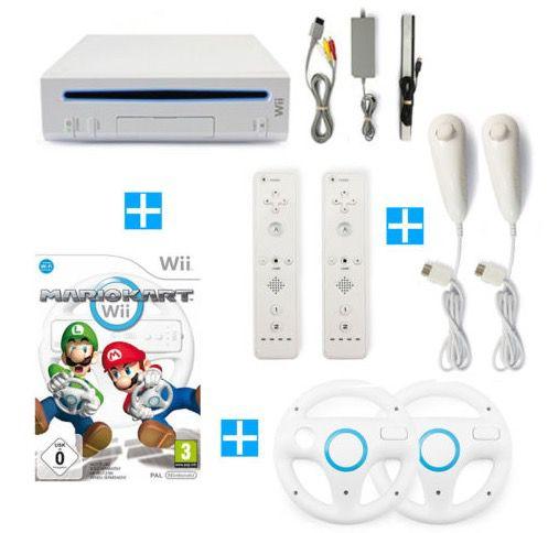 Bildschirmfoto 2016 12 15 um 08.38.33 Nintendo Wii + Mario Kart + 2 Remotes + 2 Nunchuks + 2 Lenkräder für 84,99€