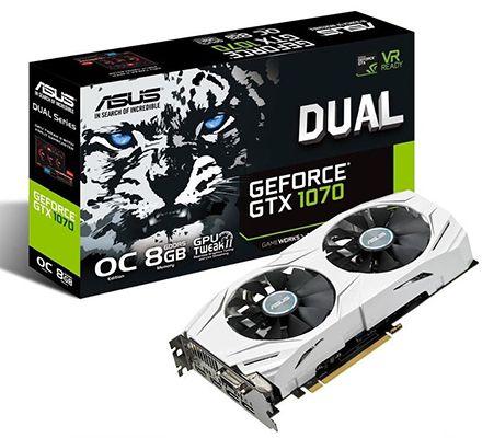 Asus GeForce GTX 1070 Dual OC 8GB ab 368,10€ (statt 435€)