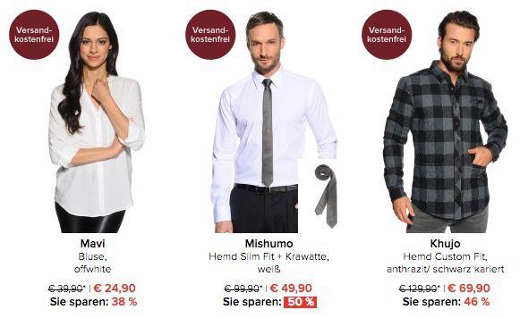 Hemden & Blusen bis 70% reduziert + 10% Gutschein + VSK frei bei dress for less