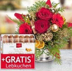 30% auf Blumen & Weihnachtssträuße + VSK frei + teilweise gratis Lebkuchen