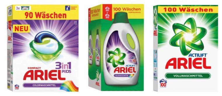 Ariel Waschmittel (flüssig, Pulver oder Pods) günstig bei LIDL + VSK frei ab 30€