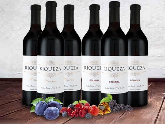 6 Flaschen Riqueza Colheita & Reserva für 29,90€
