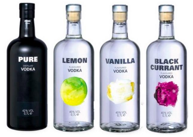 Pure Vodka Natur & andere Sorten je 6,99€ (VSK frei ab 30€)