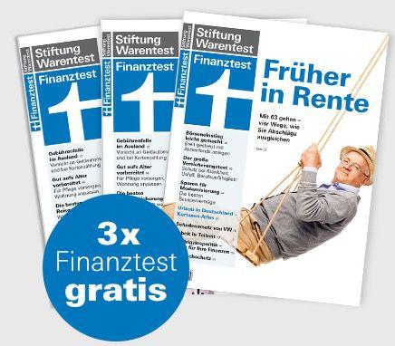 3 Ausgaben Finanztest gratis + Archiv CD 2016 für 4,90€