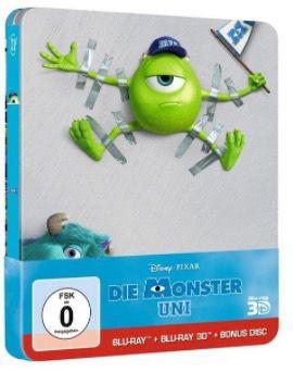 Die Monster Uni Steelbook (+ 2 BRs) [3D Blu ray] für 13,74€ (statt 19€)