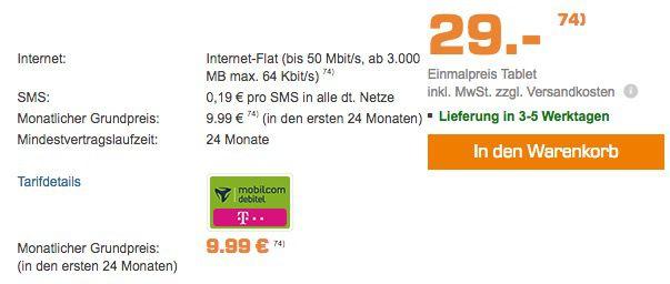 Bildschirmfoto 2016 12 22 um 11.21.11 Geht wieder! Telekom 3GB LTE Daten Tarif für 9,99€mtl. + HUAWEI Mediapad M2 für 29€ (statt 333€)