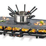 Gourmetmaxx Granitlook Raclette inkl. Fondue für 49,99€ (statt 65€)