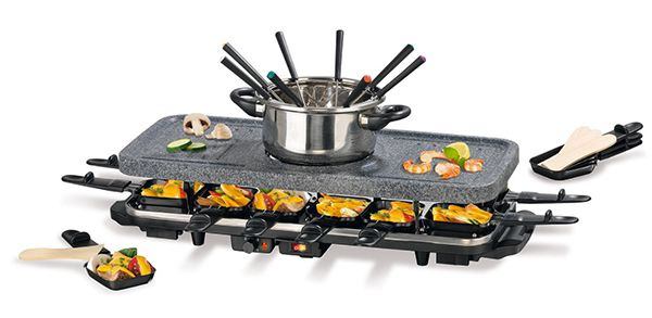 Gourmetmaxx Granitlook Raclette inkl. Fondue für 54,37€ (statt 70€)