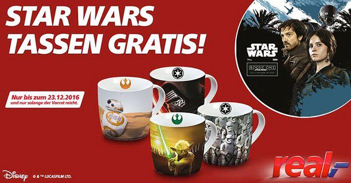 Gratis 4 Star Wars Tassen bei real   nur in den Märkten!
