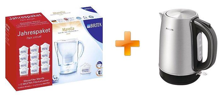 Brita Marella Cool Jahrespaket + Philips HD 9321 Wasserkocher für 73,80€ (statt 87€)