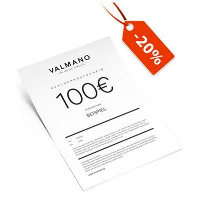 20% Rabatt auf Valmano Geschenkgutscheine – günstig Schmuck & Uhren