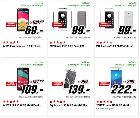 Reduzierte Smartphones + 10.000 mAh Powerbank für 7,99€ (statt 16€)   z.B. HONOR 7 Premium für 249€ (statt 281€)