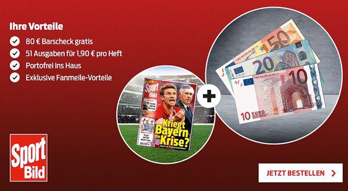 Bildschirmfoto 2016 12 28 um 09.02.09 Sport Bild 51 Ausgaben für effektiv 16,90€ dank 80€ Bargeld Prämie